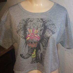 Lipstick Elephant Crop Top